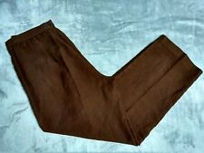 Coldwater Creek Womens Brown Linen Trousers Size P12
