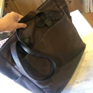 Filson Tote Bag Casual Business Leather Dark Brown Men's Woman Unisex#M5830