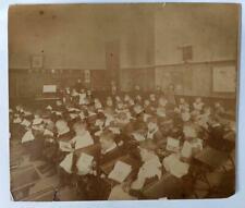 Thomasboro,Illinois Champaign County Public School Antique Albumen Photo