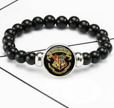 Harry Potter Hogwarts Photo Glass Noosa Snap Chunk Elastic Beads Bracelet