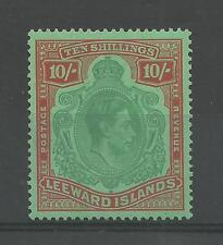 LEEWARD ISLANDS 1938  GV1 10/- High Value   mounted mint