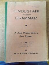 HINDUSTANI WITHOUT GRAMMAR BY M A KHAN HAIDARI 1938 PAPERBACK BOOK