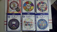 "LOT OF 144 MYLAR BIRTHDAY BALLOONS 6 TO CHOOSE FROM MIX ""N"" MATCH SEALED PACKS"