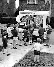 Children Around Lyon's Ice Cream Truck - circa 1960 - Historic Photo Print