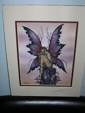 Amy Brown - Bashful - Matted - SIGNED - OUT OF PRINT - RARE