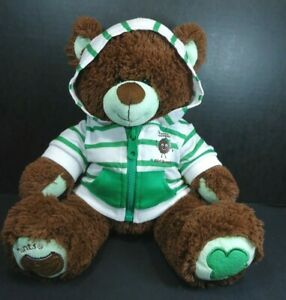 """Build A Bear Girl Scouts Thin Mints Cookie Bear Plush With Hoodie 14"""""""