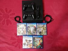 SONY PLAYSTATION 4 500GB CONSOL + 2 CONTROLERS and 5 GAMES