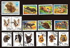 MADAGASCAR Animaux sauvages et domestiques: chiens,lapin,renard,panthere   D82