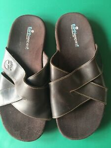 Mens Timberland Brown Leather Earthkeeper Sliders Size 10