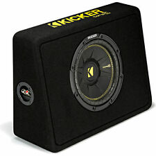 "Kicker COMPC 44TCWC102 300W RMS Thin 10"" Ported Subwoofer Enclosure Bass Box"