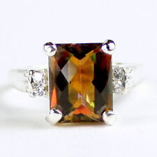 Twilight Fire Topaz , 925 Sterling Silver Ladies Ring, SR221-Handmade