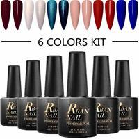 6Pcs RBAN NAIL UV Gel Nail Polish Soak off Sweet Color Gel Varnish Manicure 8ml