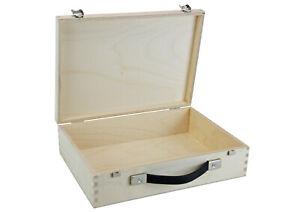 Kleiner Holzkoffer - Holzkiste - Box - Werkzeugkiste  (332 x 230 x 86 mm L/B/H)