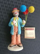 Nwt - New Emmett Kelly Jr Collection Flambro, Ceramic Sad Clown with Balloons