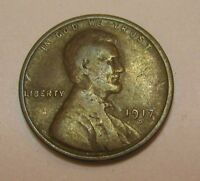 1917-D Lincoln Wheat Cent in Average Circulated Condition         DUTCH AUCTION