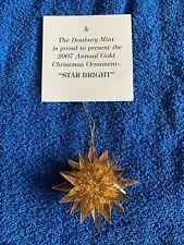 Danbury Mint Gold Star Bright Christmas Ornament 2007 23 K Gold