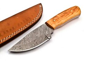 Custom made Damascus Hunting Knife 15n20 /1095 High Carbon Steel FF549