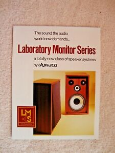 1970s Dynaco Laboratory Monitor Series  LMS 2 Sided Page Brochure Flyer
