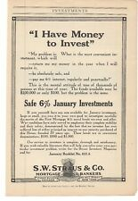 1914 S.W. Straus & Co. Mortgage and Bond Bankers Advertisements