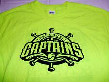 Lake County Captains Neon Yellow Large T-Shirt MiLB SGA 50/50 Cleveland Indians
