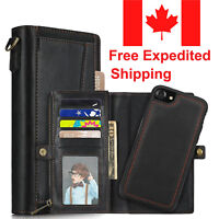 iPhone X 8 Plus Luxury Flip Cover Wallet Card REAL Leather Phone Case Stand-Man
