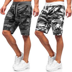 Kurzhose Sporthose Shorts Bermudas Kurze Jogging Fitness Army Herren BOLF Camo