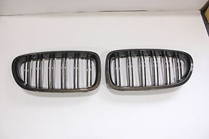 BMW F10,F11,F18 5-Series 2010-2016Front Kidney Grille Carbon Look M5-Style