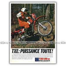 PUB PEUGEOT TXE 80 TOUT-TERRAIN - Original Advert / Publicité Moto de 1981
