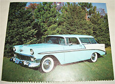 1956 Chevrolet Bel Air Nomad car print (light blue & white)