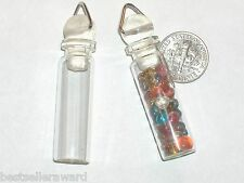 1pc. Necklace tube Glass vial pendant charm oil perfume Locket potion Bottle New
