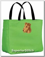 Irish Terrier embroidered essential tote bag Any Color