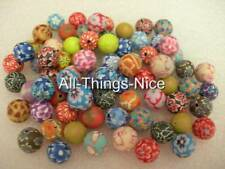 Polymer FIMO Clay 10mm ROUND Beads Jewellery Making Art Craft Spacer Findings 50