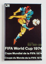 World Cup 1974 Germany FRIDGE MAGNET (2 x 3 inches) soccer poster football