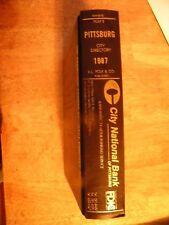 1987 PITTSBURG KS KANSAS DIRECTORY city PHONE BOOK POLKS OLD GENEALOGY ancestry