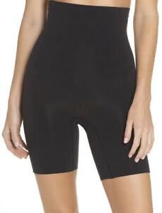 Spanx Higher Power Short Size L NWT Black High Waisted Shaper Shorts