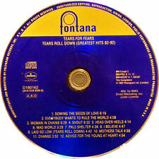 Tears Roll Down: Greatest Hits 1982-1992 by Tears for Fears (CD, 1992 Fontana)