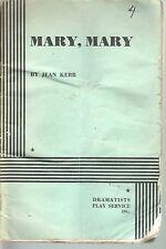 Mary Mary 1965 Script