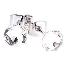 Zumqa 26032-1010 Round Shaped Earing with Elegant White Swarovski elements