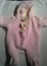 ALI MAC GIRLS 3 month PINK FLEECE HOODED BUNTING SNOWSUIT Soft Warm Cuddly! EUC