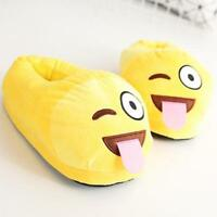 Unisex Cartoon Naughty Emoji Antislip Indoor Winter Warm Shoes Plush Slippers US