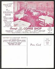 Old Utah Postcard - Salt Lake City - Covey's Coffee Shop Interior