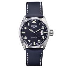 Davosa Swiss Military 16151154 Analog Men WristWatch Black Genuine Leather Band