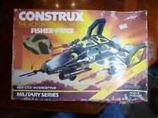 Vintage 1986 Fisher Price Construx 6012 Military Series Interceptor Unopened