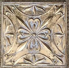 Antique Style Ceiling Tin Metal Tile Gold Gilt Patinated Wall Decor Decoration 1
