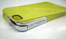GRAFT CONCEPTS Leverage iPhone 4/4S Case Bumper NEON GREEN w/ CHROME Latch NEW