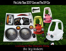 The Toy Restore Replacement Stickers Fits Little Tikes 2017 Cozy Coupe Car HL