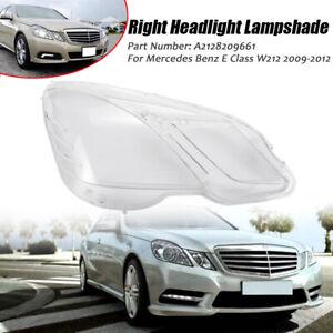 Headlight Lens Headlamp Cover Right Side For Mercedes Benz E Class W212 2009-12