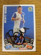 "2011/2012 AUTOGRAFO: Blackburn Rovers-Dann, Scott [firmato a mano ""TOPPS MATCH a"