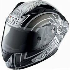 IXS *PREISHIT* Helm Motorrad Racing Sport Carbon Fiberglas HX702 sw-silber M