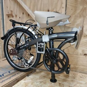 Carrera Intercity Unisex Folding Bike Grey - Train + Bus Approved Bicycle Cycle